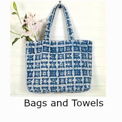 Backwoods collection handbags and towels